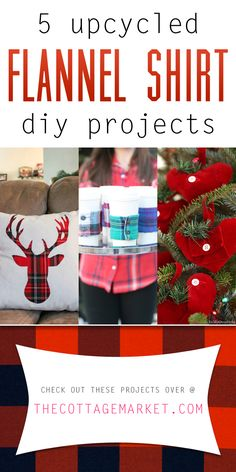 Wait till you see these projects! You are going to love this little collection of 5 Upcycled Flannel Shirt DIY Projects! They are simply FANTASTIC!!!
