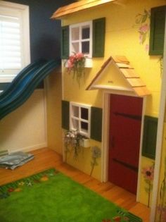 playhouse loft bed   Do It Yourself Home Projects from Ana White