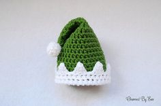 Preemie Elf Hat - Free by Janaya Chouinard of Charmed By Ewe / Elves - 12 Crochet Round Ups of Christmas - Rebeckah's Treasures