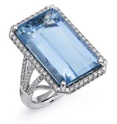 17.26 carat Aquamarine ring by Coast Diamond