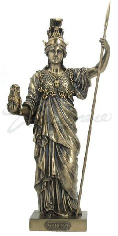 Greek Goddess Athena Statue God of War & Wisdom Sculpture Figurine Mythology Athena Greek Goddess, Greek Goddess Of Wisdom, Greek Gods And Goddesses, Greek Mythology, Roman Mythology, Greek Warrior, Spiritus, Bronze, Greek Art