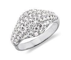 White Topaz Ring in Sterling Silver made with SWAROVSKI GEMSTONES
