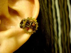 Brass Blood Ear Cuff