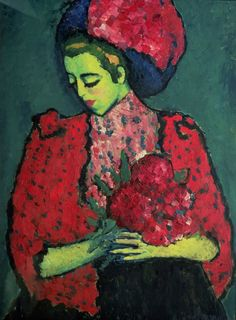 Young Girl with Peonies - Alexej von Jawlensky - WikiArt.org