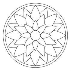 Blüten-Mandala 2 Faux Stained Glass, Stained Glass Projects, Stained Glass Patterns, Mosaic Patterns, Mandala Art Lesson, Mandala Painting, Dot Painting, Mandala Design, Mandala Dots