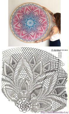 Crochet Tablecloth Pattern, Crochet Mandala Pattern, Crochet Circles, Crochet Diagram, Doily Patterns, Crochet Patterns, Crochet Wall Art, Crochet Wall Hangings, Crochet Dollies