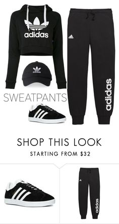 """""""Untitled #442"""" by hamiltrashtm ❤ liked on Polyvore featuring adidas"""