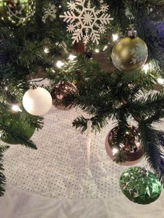 fbf52d53d3dd Decorations from our green and white decoration package  Atlanta  rental   Christmas  tree