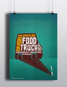 Poster Brussels Food Truck festival on Behance Food Truck Festival, Food Trucks, Brussels, Festivals, Layouts, Behance, Graphic Design, Poster, Concerts