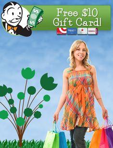 Ebates: Free $10 Gift Card- Target, Walmart, Kohl's,More! - #freebie