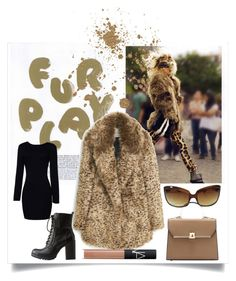 """Fur Play once more"" by divatmalom on Polyvore featuring Mode, MANGO, Soda, Oliver Peoples, NARS Cosmetics, fashionista, fashionblogger, furcoat und fashiontrend"