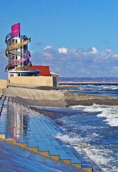 Redcar's Beacon, or the 'Vertical Pier'.