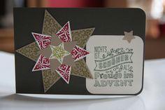 Sternenzauber, Weihnachtskarten mit Stampin` Up. Zuerst gebloggt auf: Leben am Rande der Zivilisation.