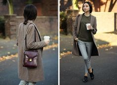 Sweater, Coat, Trousers, Bag, Shoes