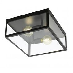 Eglo Charterhouse Ceiling Light in Black Steel and Clear Glass - Lounge And Hallway Lighting from Dusk Lighting UK Lamp, Ceiling Lights, Vintage Ceiling Lights, Interior Lighting, Lamp Decor, Low Ceiling Lighting, Glass Panels, Glass Ceiling Lights, Eglo