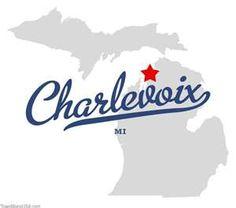 Map of Charlevoix Michigan MI My hometown ❤️ Michigan Vacations, Michigan Travel, State Of Michigan, Northern Michigan, Family Vacations, Charlevoix Michigan, Disney Go, Boyne City, The Mitten State