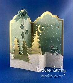 Carols of Christmas, Labels Double Z-Fold Box Cards, Bronwyn Eastley, Stampin' Up! #addinktivedesigns
