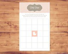 Printable Baby Shower Game - Bingo. $6.00, via Etsy.
