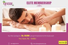 Become an ELITE MEMBER at Alcor Spa.Buy Silver Package and get any 8 spa treatments for Rs. 10,000/- only. Visit: http://alcorspa.in/book-appointment/ to book an appointment now.#AlcorSpa #SilverPackage #EliteMembership #8Treatments