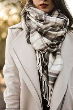 Wrap up in cozy scarf. #fallstyle #scarf