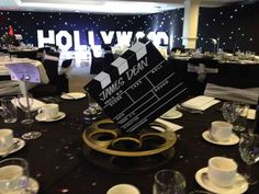 Hollywood Film Reel Table Centres