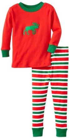 Amazon.com: New Jammies Boys 2-7 Snuggly Pajama Moose And Stripes: Clothing
