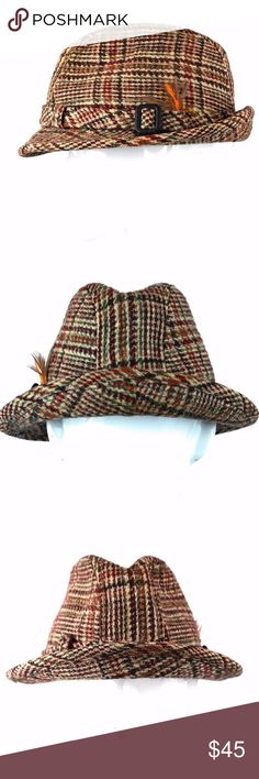 Harris Tweed Wool Plaid Dobbs Walking Hat Size 7 Dobbs brand Harris Tweed  100% Wool e9ae8a371f85