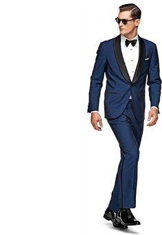 New Arrival Groom Tuxedos BlueGroomsmen Shawl Satin Black Lapel Men Wedding Suits Best Mens Suit (Jacket+Pants+Tie+Girdle) Groom And Groomsmen Tuxedos, Groom Tuxedo, Tuxedo For Men, Tuxedo Suit, Groom Wear, Best Suits For Men, Mens Suits, Navy Blue Tuxedos, White Tux