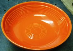 Vintage Homer Laughlin Fiesta Ware Orange 7 1/2 Salad Bowl