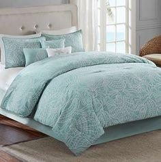 Belvedere 7-pc. Comforter Set sea foam with shells