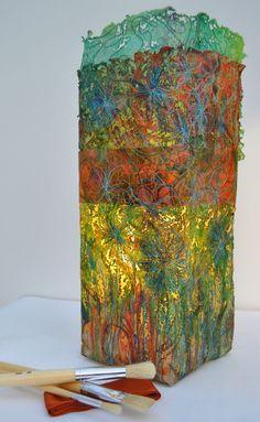 Felt lamp by Brenda Boardman.