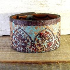 Leather cuff  rainwheel ETSY Nice and Pretty +dreadstop @DreadStop