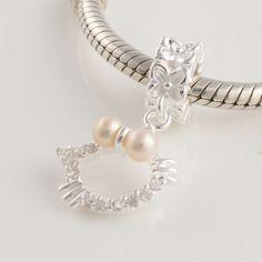 Pandora 925 Silver Pendant pearl Charms YB095