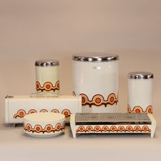 Brabantia tins from the 70's, type Bayon