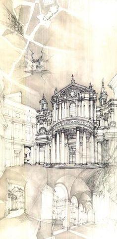 Ayumi-Sugiyama | YSOA | Yale School of Architecture.  Architectural Sketches