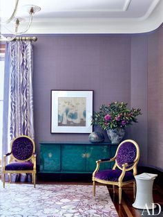 Purple interior made chic Inspired by Grandin Road Purple Thistle.
