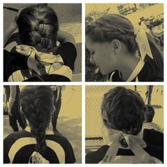 Mom, I want these hairstyles for softball this year. Top right and bottom left. :)