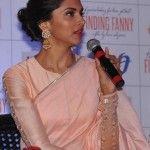 Deepika Padukone in peach saree and blouse