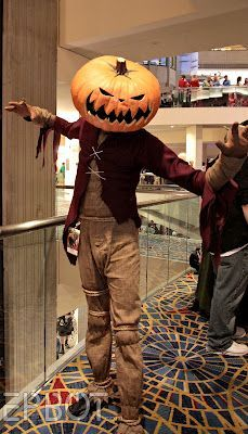 I love this awesome Jack Skellington Pumpkin King costume!