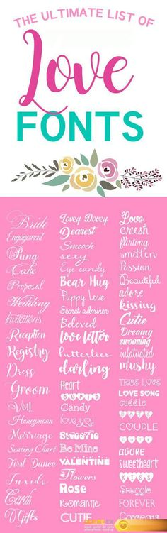 The Ultimate List Of Love Fonts 000023  http://www.desirefx.me/the-ultimate-list-of-love-fonts-000023/
