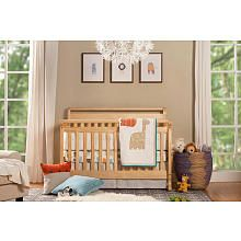 Emily 4-in-1 Convertible Crib with Toddler Rail - Natural