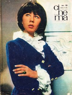 "Romanian actress Carmen Galin. Back cover of ""Cinema"" magazine (October 1967)"