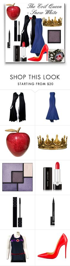 """""""The Evil Queen - Snow White"""" by mford21 ❤ liked on Polyvore featuring Valentino, Oscar de la Renta, Seletti, Yves Saint Laurent, Marc Jacobs, Gucci, Clinique and Christian Louboutin"""