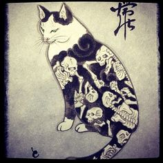 Oldie but goodie #monmoncat #monmoncats #cat #cats #cattattoo #catart #tattooedcat #tattooedcats #teboricats #neko #horitomo #tattoos