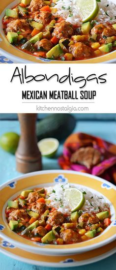 Albondigas - an easy version of the authentic Mexican meatball soup