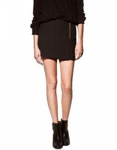 ELLAZHU Women NWT Front Zipper Black Mini Skirt ELLAZHU. $18.95. Size M: Waist 74cm (29.1inches)/ Length 36cm(14.2inches). Size L: Waist 78cm (30.7inches)/ Length 36cm(14.2inches). Size S: Waist 70cm (27.6inches)/ Length 35cm(13.8inches). Material: Cotton Blending. Front Zipper Black Mini Skirt