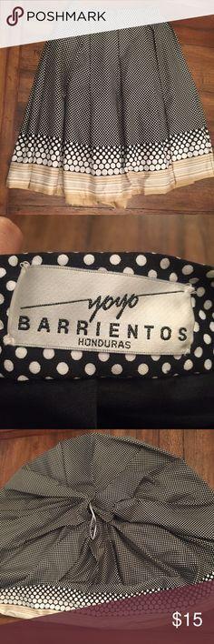 Polkadot and stripe skirt Circle skirt by Honduran designer Yoyo Barrientos. Cotton. Yoyo Barrientos Skirts
