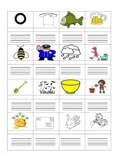 Meixner írás k-ig A kép alatt hangokra kell bontania a szót, majd ezután alá le is írja. Dysgraphia, Speech Pathology, Mini Books, Special Education, Worksheets, Language, Teaching, Writing, School