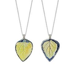 Look what I found at UncommonGoods: leaf impression pendant... for $35 #uncommongoods