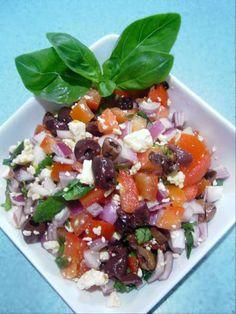 Tomato, Basil and Feta Cheese Salad recipe – 64 calories Recipe on Yummly. @yummly #recipe